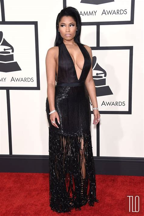 2015 grammy awards red carpet upi com grammys 2015 nicki minaj in tom ford tom lorenzo