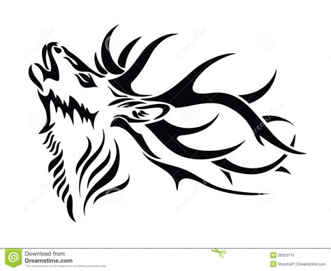 tribal deer tattoo tribal deer skull clipart clipart suggest