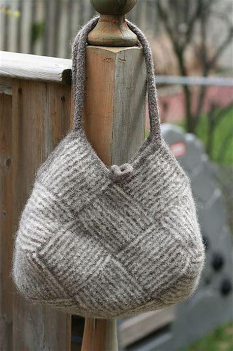knitting pattern knitting bag ravelry project gallery for garter stripe square bag