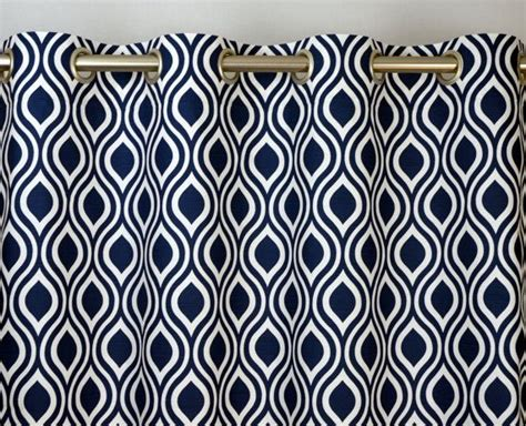 blue and white geometric curtains navy blue white modern geometric nicole contemporary