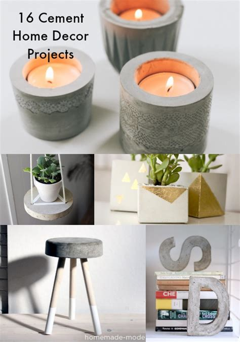 cement home decor ideas 16 concrete diy projects for home decor diycandy com