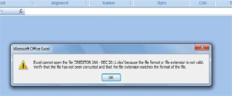 file format error video ms excel faulty excel cannot open the file because the