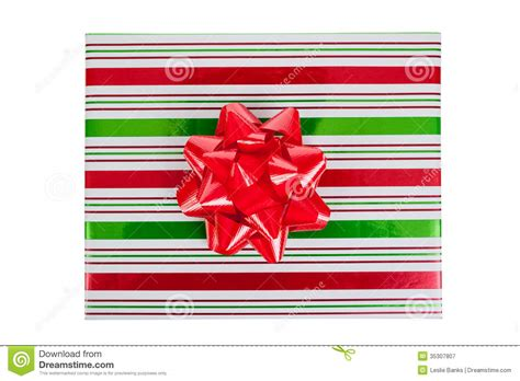 the best christmas present 1405215186 top view of wrapped christmas present stock image image 35307807