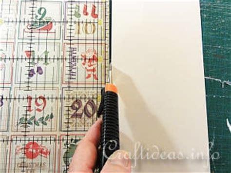 scrapbook calendar tutorial christmas paper craft scrapbook paper advent calendar on