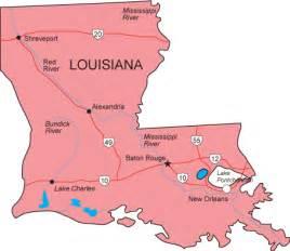 map of louisiana and la map louisiana state map