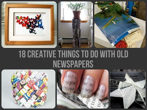 Creative Things With Paper - 18 creative things to do with newspapers