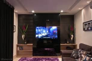 living room tv wall 4 black white purple living room glass tv wall interior