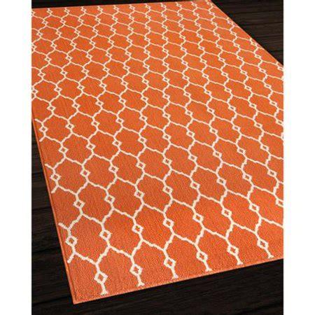 trellis outdoor rug momeni indoor outdoor orange trellis rug 5 3 x 7 6