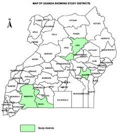 map of uganda showing districts images