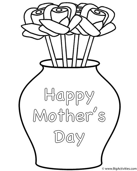 Flowers In Vase Coloring Pages by Roses In A Curved Vase Coloring Page Plants