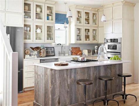 barnwood kitchen island salvaged kitchen cabinets insteading