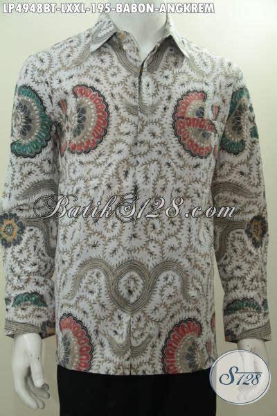 Batik Tulis Motif Babon Angkrem baju batik hem lengan panjang kombinasi tulis motif babon