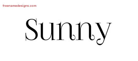 tattoo name sunny sunny archives free name designs