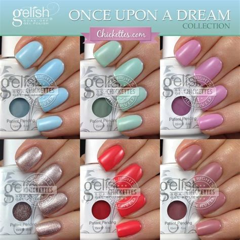 gelish color swatches gelish once upon a collection 2014 chickettes
