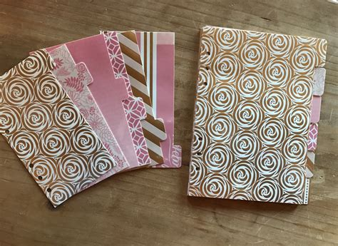 accent foil pink blush with gold foil accents personal size a5 or pocket
