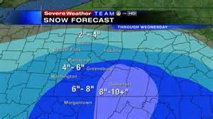 Snow forecast map www wpxi com