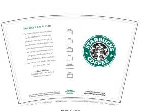 starbucks coffee cup template 6 best images of printable starbucks coffee cups