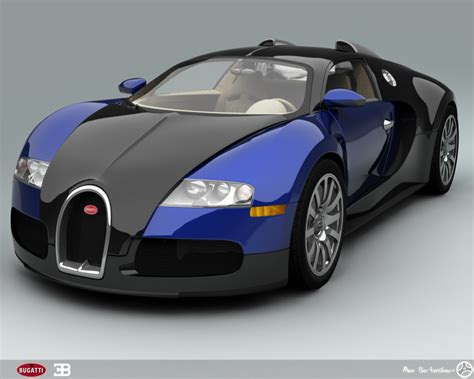 bugatti veyron blue cool car wallpapers