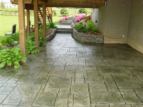 best 25 concrete patios ideas on concrete