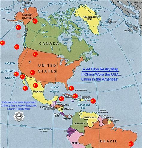 usa china map a china rising radio sinoland reality map if china were