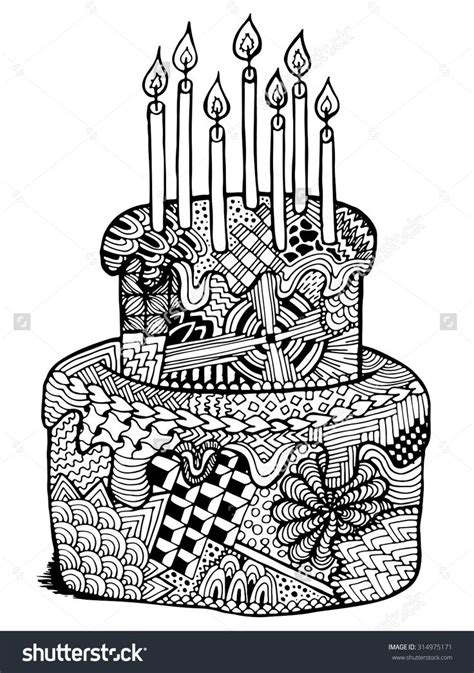 coloring pages for adults birthday 78 best cupcakes cakes coloring pages for adults images
