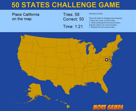 map quiz of the united states united states map 50 states challenge by dexterfly