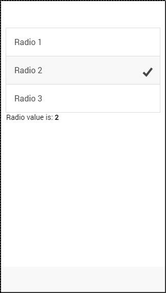 ionic radio tutorial ionic javascript forms