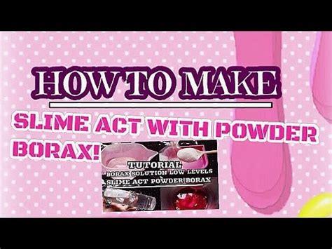 cara membuat slime ria yaya riya slime act with powder borax tutorial untuk membuat slime