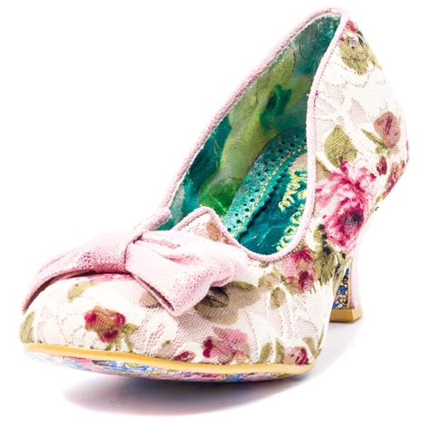 irregular choice dazzles 2nd razzle womens textile pink