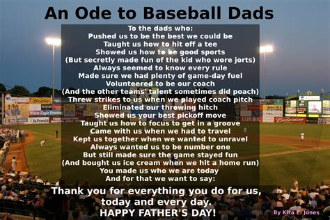 happy fathers day baseball an ode to baseball dads happy s day on the