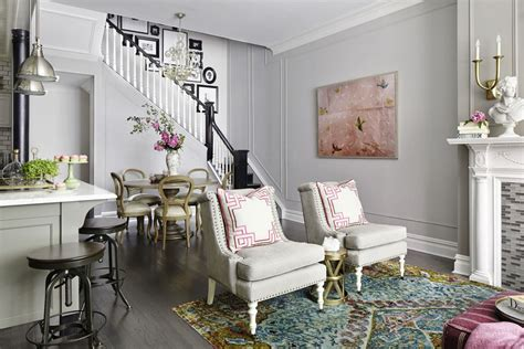 Townhouse Decor by Classic West Townhouse With A Calming Grey Background And Fresh Color Highlights