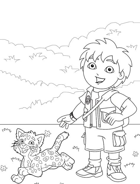Diego Coloring Page Printable Diego Coloring Pages Coloring Me by Diego Coloring Page