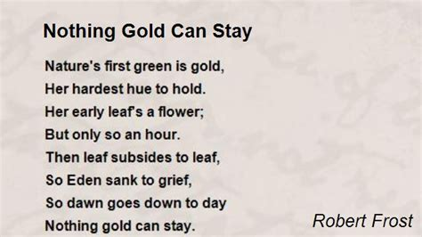 dramanice nothing gold can stay nothing gold can stay poem by robert frost poem hunter