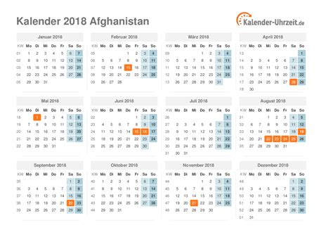 Afghanistan Calend 2018 Afghanistan Kalendar 2018 28 Images Feiertage Hessen