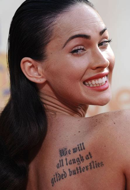 megan fox tattoo quote meaning perfection tattoos 06 16 13