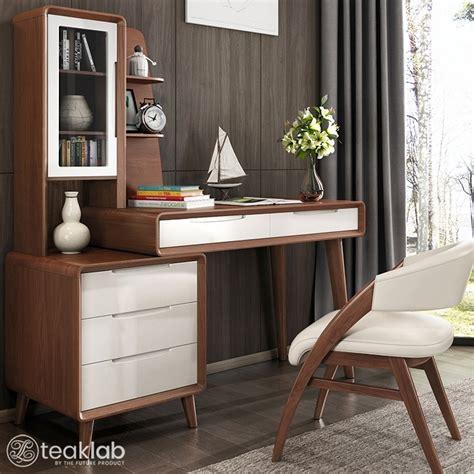 buy modern teak wood design study table desk  chair
