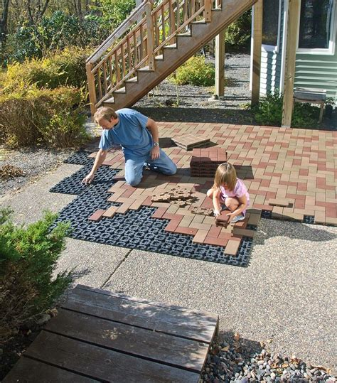 How To Build A Patio Deck With Pavers Azek Pavers On Pavers Patio Landscape Pavers And Acme Diy Patio How To Lay Patio Pavers In Patio