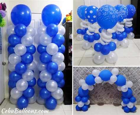 blue and white decorations senior citizen cebu balloons and supplies