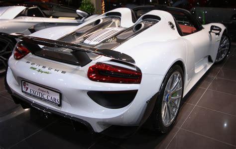 porsche 918 spyder white white porsche 918 spyder hits the market gtspirit