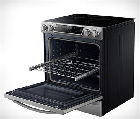 samsung chef collection induction range uses led flames