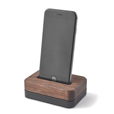 wood iphone station 3 lb black stainless steel stand