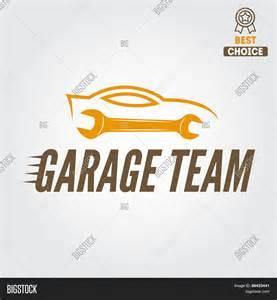 One Car Garage Plans Logo Badge Emblem And Logotype Element For Mechanic
