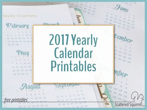 printable calendar scattered squirrel search results for yearly calendars 2016 2017 2018