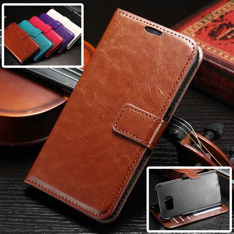 Leather Flip Cover Flip Advan I4c high quality retro leather wallet flip cover for samsung galaxy s7 s7 edge s7 plus