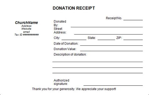 donation templates 15 donation receipt template sles templates assistant