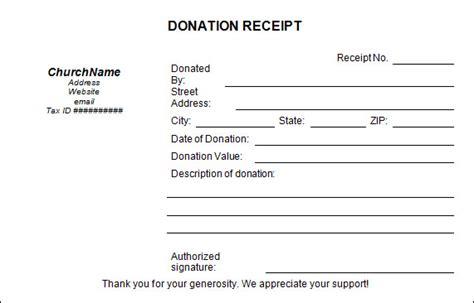 donation receipt template samples templates assistant