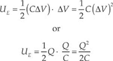 potential energy of capacitor equation electric potential and capacitance ap physics b