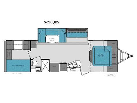 shadow cruiser floor plans 2013 shadow cruiser 280qbs floor plan travel trailer