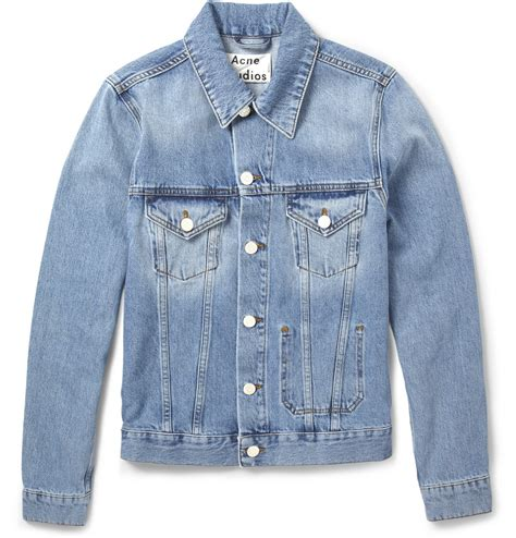 Jam Guess Denim Blue acne jam slimfit washed denim jacket in blue for lyst