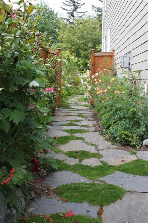 garden flagstone pathway gardening and outdoor spaces pinterest